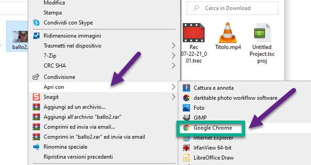 apertura della GIF con i browser