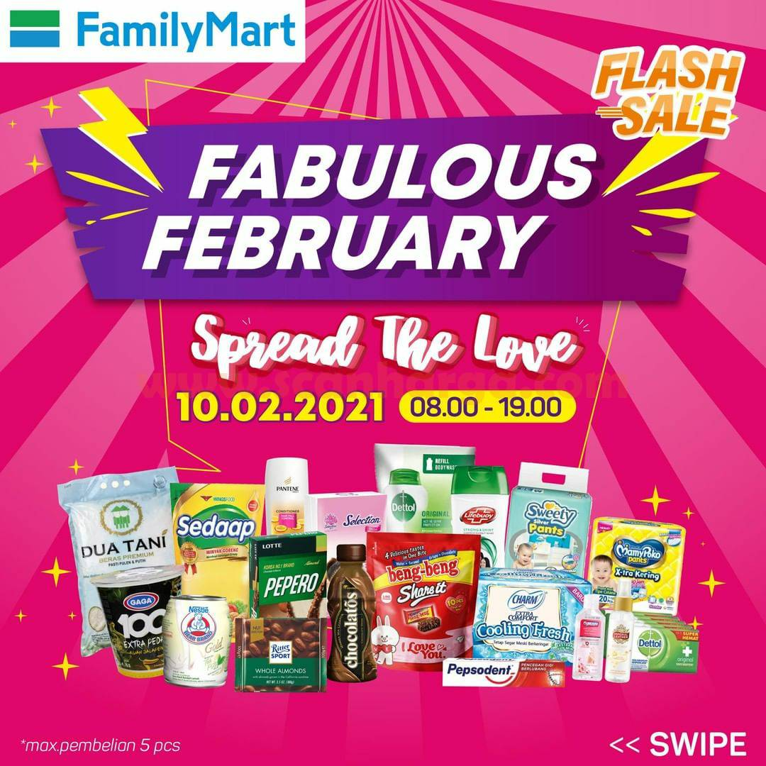 FAMILY MART Promo Flash Sale! Fabulous February Gratis Ongkir
