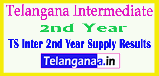 Telangana Intermediate 2nd Year Supply Results 2018