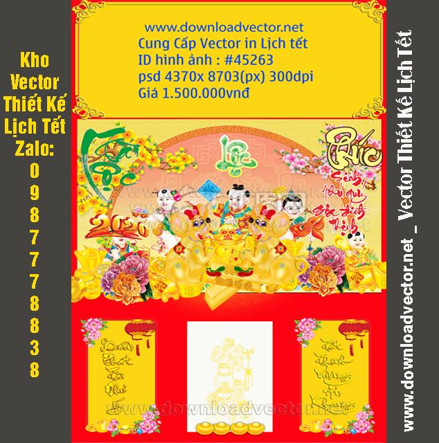 Bìa Lịch con chuột vàng