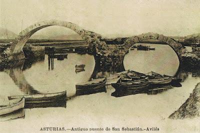 enteropostal, postal, tarjeta, prefranqueada, Avilés, puente
