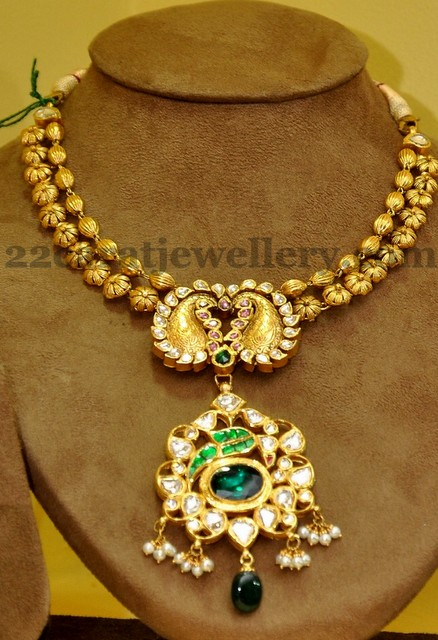 Necklace With Mango Floral Locket  Jewellery Designs