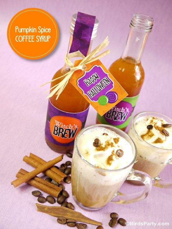 Pumpkin Spice Halloween Coffee Syrup Recipe - BirdsParty.com