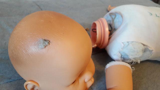 boneca meu bebê quebrada
