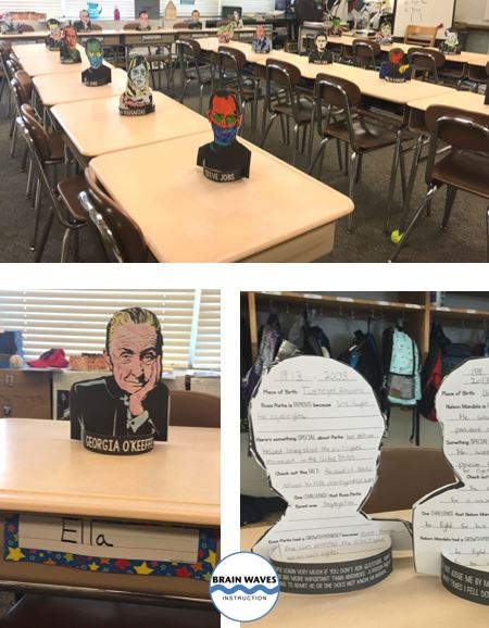 First students read a nonfiction passage about growth mindset.  Then, they get researching famous people with a growth mindset.  The end result is a stunning and creative 3D growth mindset project!