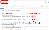 how to track blue dart courier by awb number