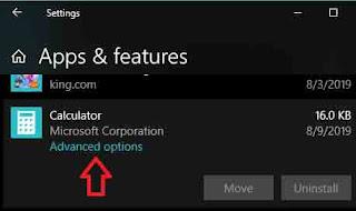 Calculator Application Not Working on Windows 10