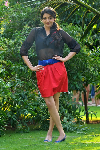 kajal agarwal  red