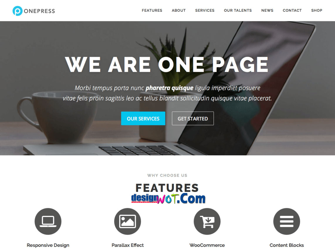 ONEPRESS Responsive WordPress Theme