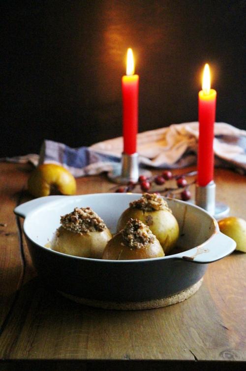 Bratapfel mit Nussfüllung, vegan und glutenfrei