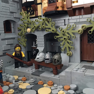 Woodstock Castle Lego MOC Blacksmith and Armoury