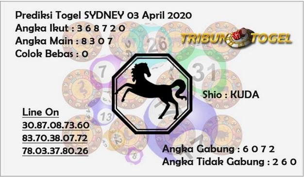 Syair Sidney Jumat 03 April 2020 - Prediksi Tribun Togel