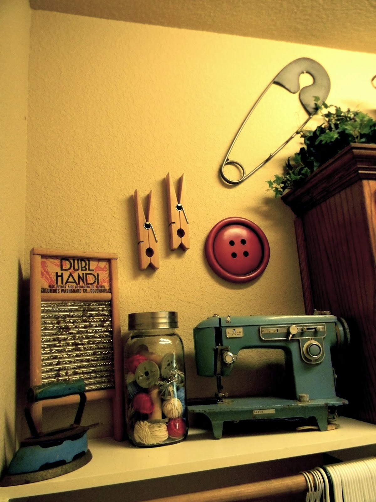 Little Bit Of Paint Vintage Inspired Laundry Room
