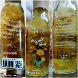 npure marigold toner ingredients