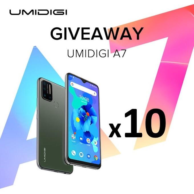 Sorteio de 10 Smartphones UMIDIGI A7