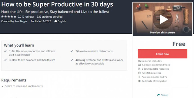[100% Free] How to be Super Productive in 30 days