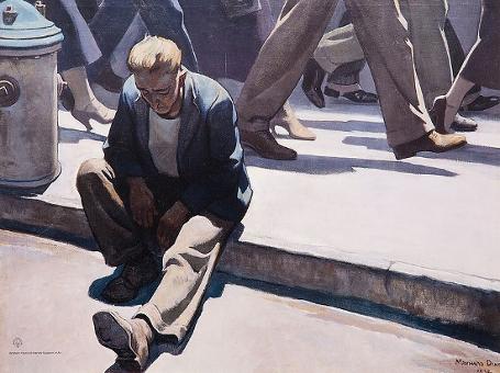 """""""Forgotten Man"""" by Maynard Dixon, 1934"""