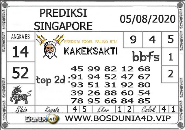 Prediksi Togel SINGAPORE DUNIA4D 05 AGUSTUS 2020