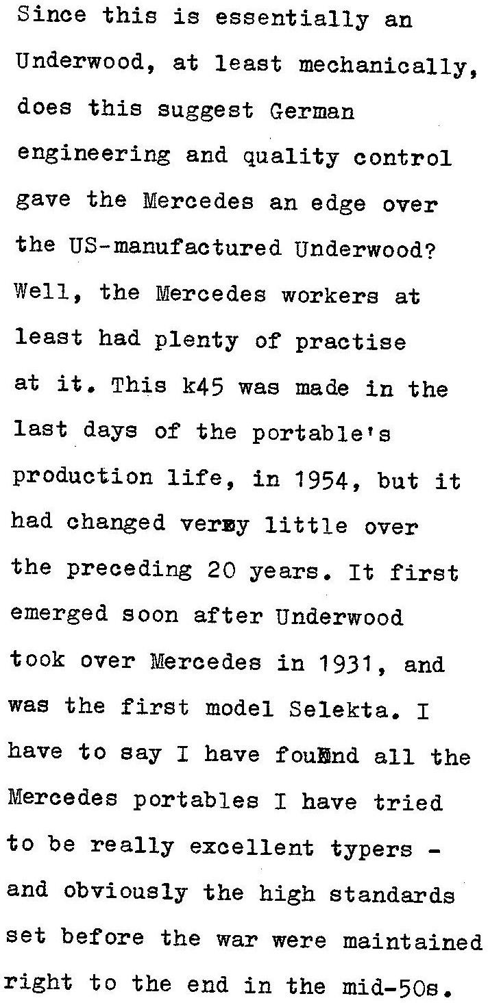 oz.Typewriter: Mercedes K45 Portable Typewriter: Five