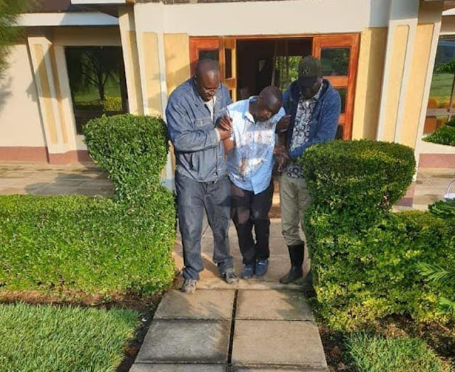 MP Oscar Sudi home at night on the day of his arrest