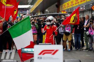 FÓRMULA 1 - El Ferrari de Vettel fue el más rápido en una caótica carrera en Spa