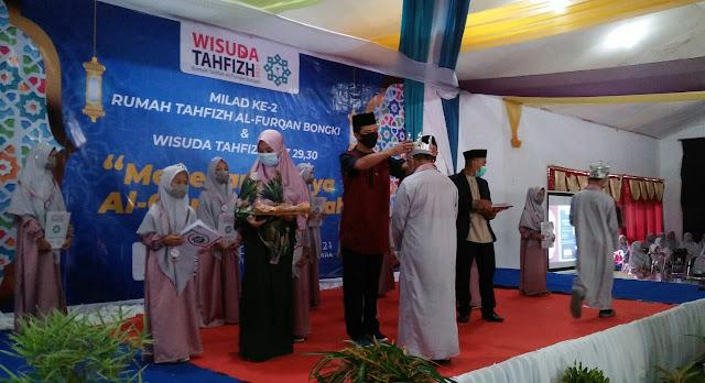 80 Santri Rumah Tahfidz Al Furqan Diwisuda