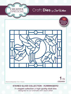 CED24001 Stained Glass Collection Hummingbird