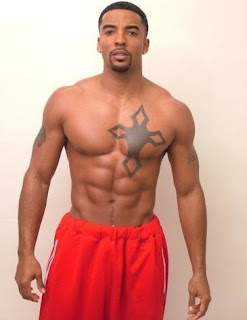 Picture of Christian Keyes showing his muscular body