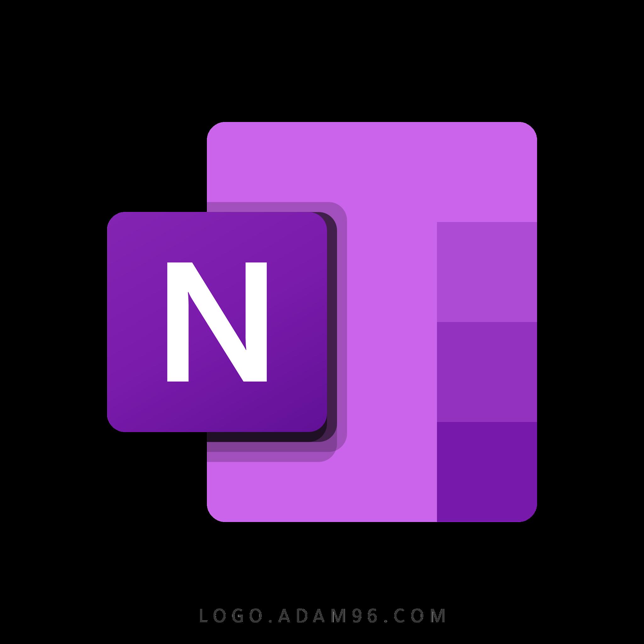 تحميل شعار مايكروسوفت ون نوت لوجو عالي الدقة بصيغة شفافة Logo Microsoft OneNote PNG