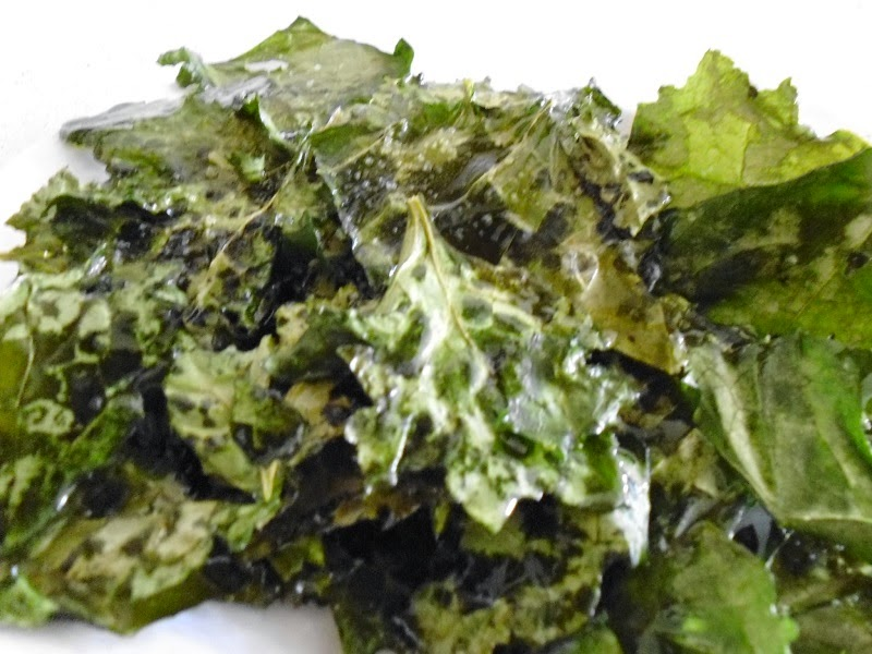 Kale Chips Finished