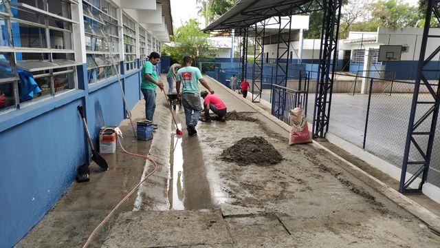 Secretaria de Educação investe cerca de  1,4 milhão em serviços de infraestrutura nas escolas municipais