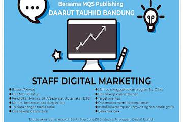 Lowongan Kerja Staff Digital Marketing MQS