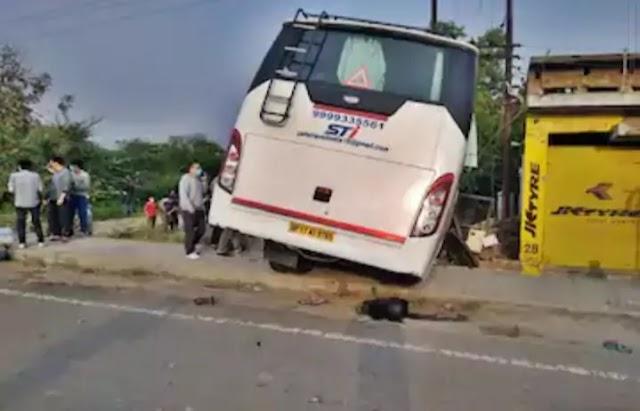 हादसा:छात्रों को Jammu Kashmir छोड़ने जा रही बस ट्रांसफार्मर से टकराई, 18 घायल