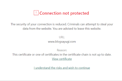 Kaspersky Certificate Problem Notifications di Blog Sayugi! Why....