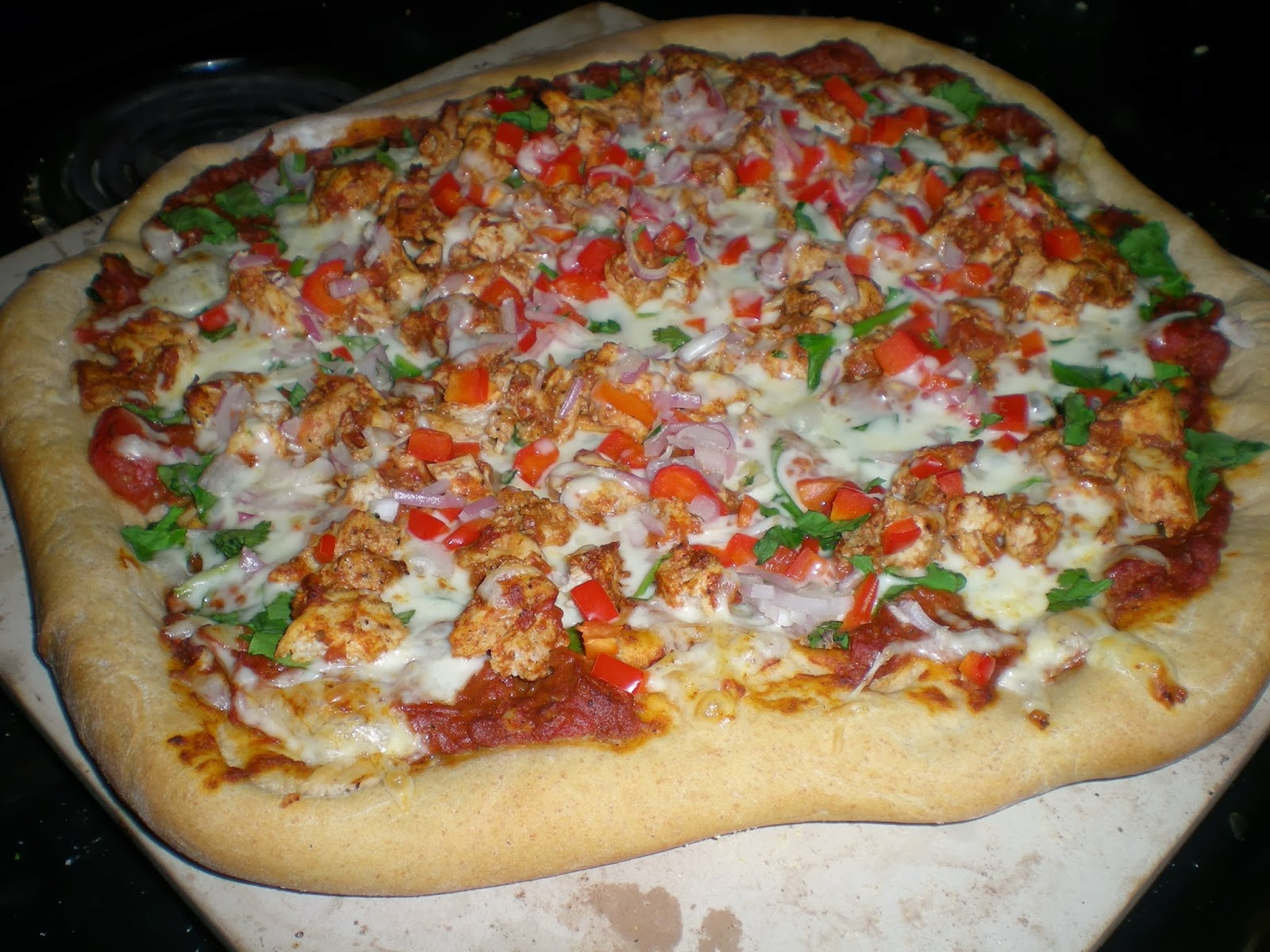 Chicken Tikka Pizza ~ From Anne's Kitchen