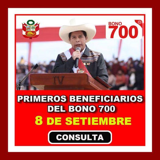 Confirmado: Pedro Castillo Hará Entrega Del Bono Yanapay De 700 Soles A Partir Del 8 De Septiembre