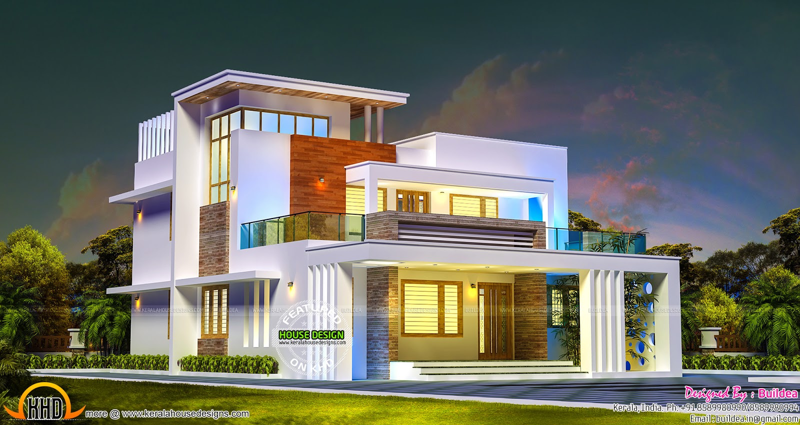 2686 sq-ft 4 bedroom contemporary style home - Kerala home design ...