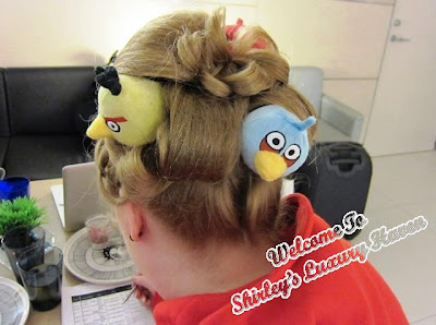 angry birds hair accesories