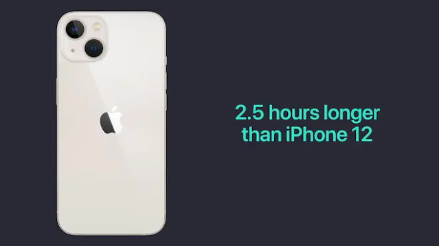 iPhone 13 can provide 2.5 hours more battery life than its predecessor