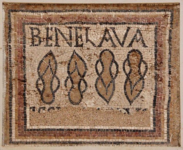 Mosaico encontrado em Timgad