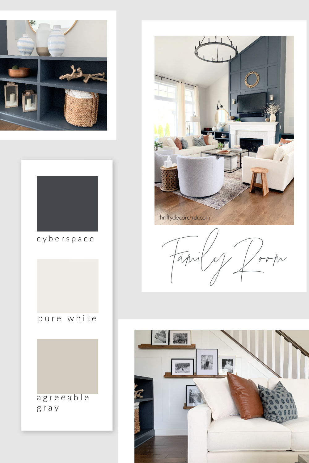 Thrifty Decor Chick family room paint colors