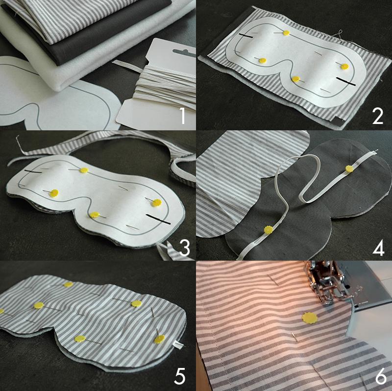 Sewing Lab: DIY EYE MASK TUTORIAL
