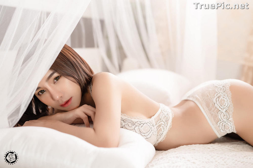 Image Thailand Model - Papoy Kuanpradit - Sexy White Lingerie - TruePic.net - Picture-19
