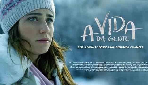 foto da personagem Ana e logo da novela