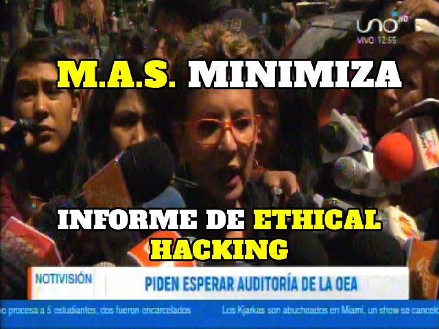 Gobierno minimiza informe de Ethical Hacking sobre irregularidades en comicios