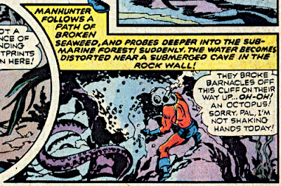 Detective Comics #440, Manhunter chats with an octopus
