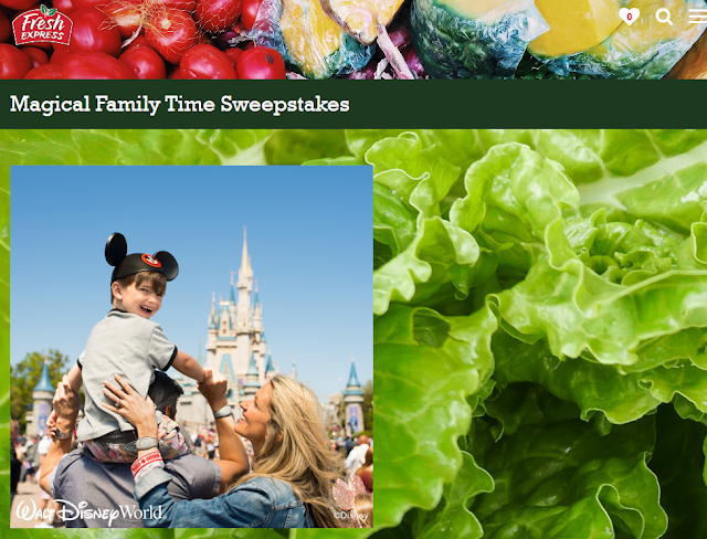 Fresh Express Salads wants to see you and your family having a great family meal together! Share and you could win a trip to Walt Disney World Resort!