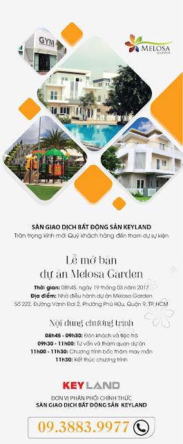 Thư mời lễ mở bán giai đoạn cuối dự án nhà phố biệt thự Melosa Garden