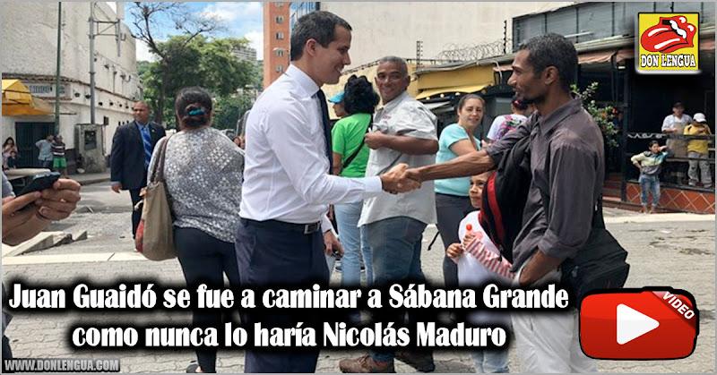 Juan Guaidó se fue a caminar a Sábana Grande como nunca lo haría Nicolás Maduro