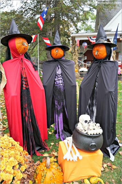 Brujas en el Return of the Pumpkin People de Jackson en New Hampshire